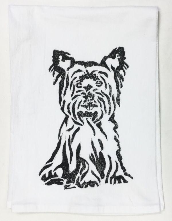 yorkie towel