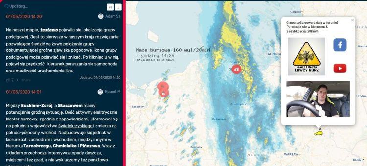 Ekipa na mapie interaktywnej