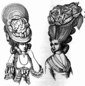 French Hairdress of the 1770's. Museo Stibbert, Florence, Italy