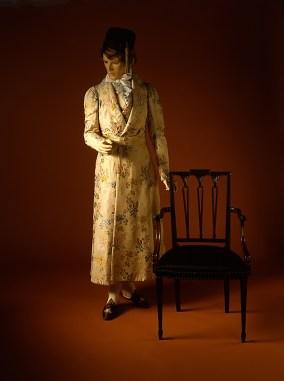 Men's dressing coat..worn over a matching waistcoat 1830