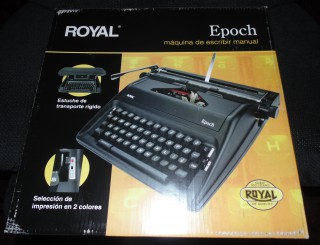 Royal Epoch Manual Typewriter Box