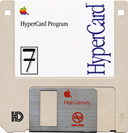 floppy disk with HyperCard