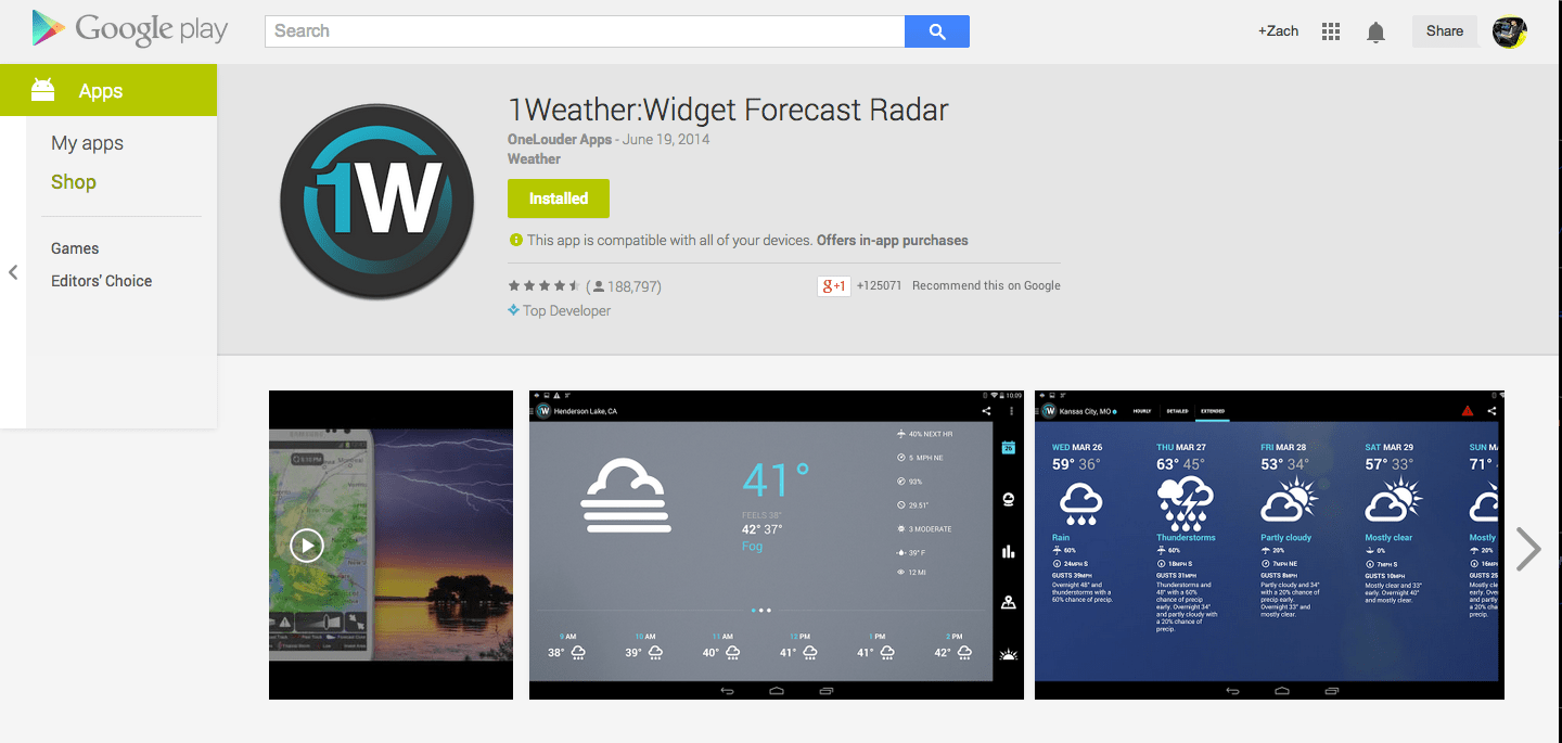 Best Android Weather Apps | Low End Mac