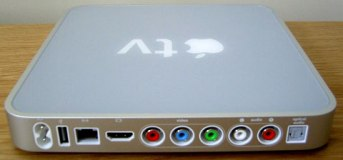 Ports on back of original Apple TV.