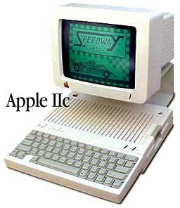 Apple IIc with monitor