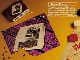 Apple II puzzle in Apple Gift Catalog