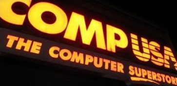 CompUSA store sign