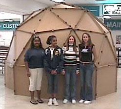 Geodesic planetarium dome