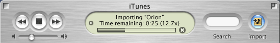 importing from CD into iTunes