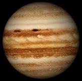 Jupiter as it appears in Starry Night