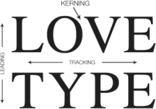 Kerning, tracking, and leading