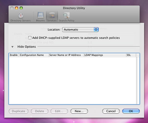 Automount OS X Home Directories Using OpenLDAP and Linux