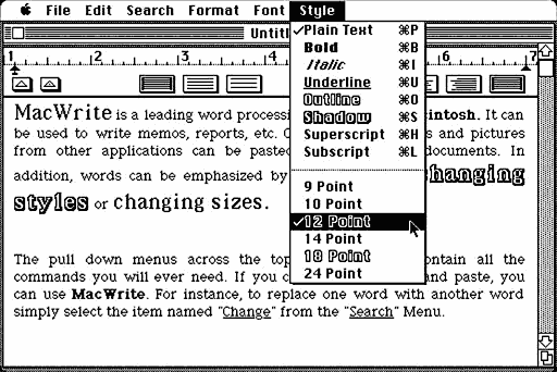 A History of Font Technologies | Low End Mac