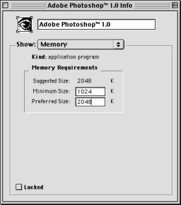 Adobe Photoshop 1.0 info