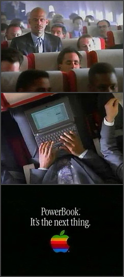 first PowerBook commercial