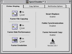 Speed Doubler 2 control panel