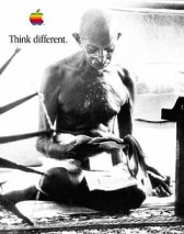 Think Different poster, Mahatma Gandhi