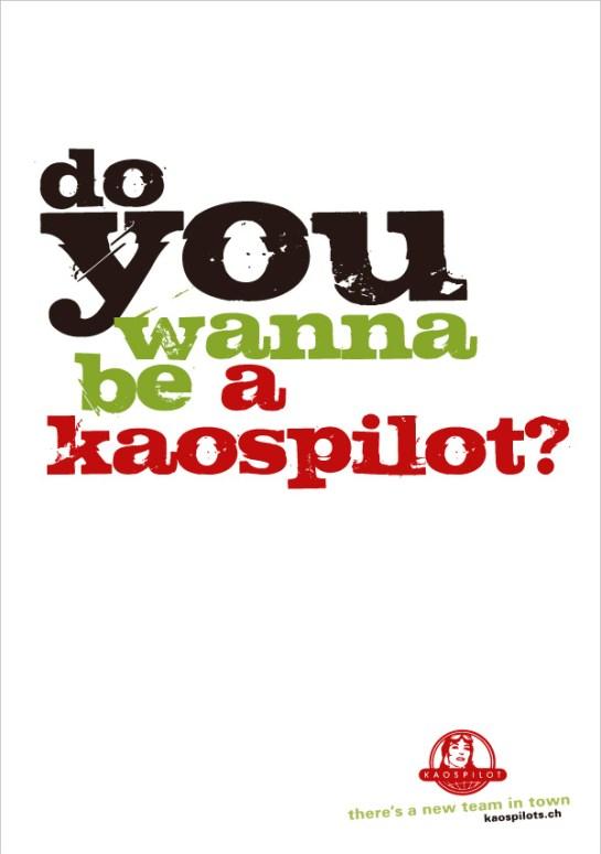 KaosPilots Switzerland poster ©lowereast.dk