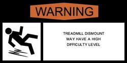 Treadmill warning label