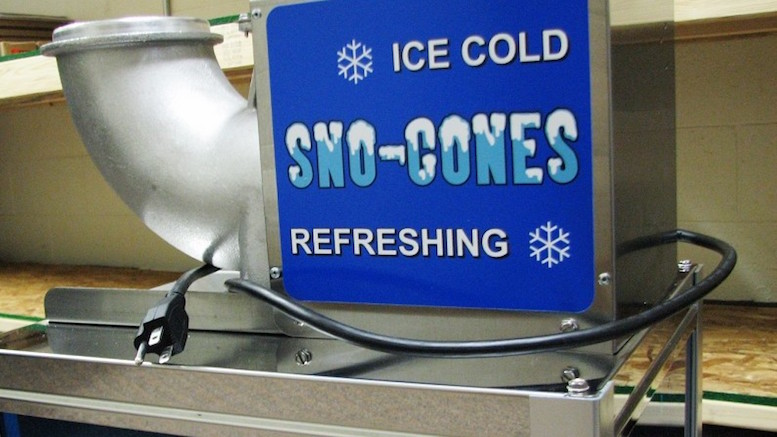 the homeland security snowcone machine - Sno Cone Machine