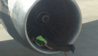 planking in jet intake