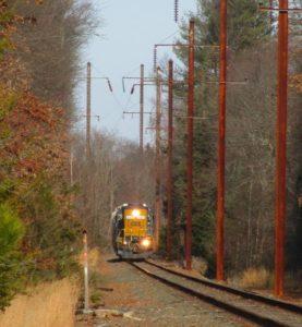 Sapia - A ConRail train in Helmetta, heading toward Jamesburg
