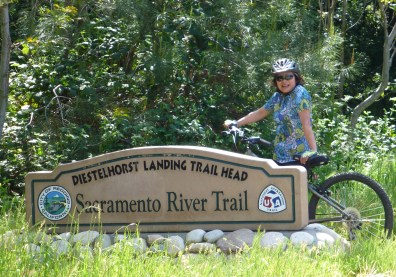 Sign of the biking trail