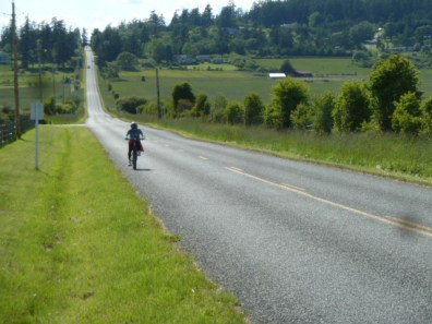 Part of the strenuous ride on San Juan Island
