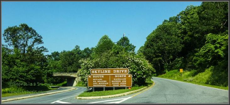 Entrance to Shenandoah National Park