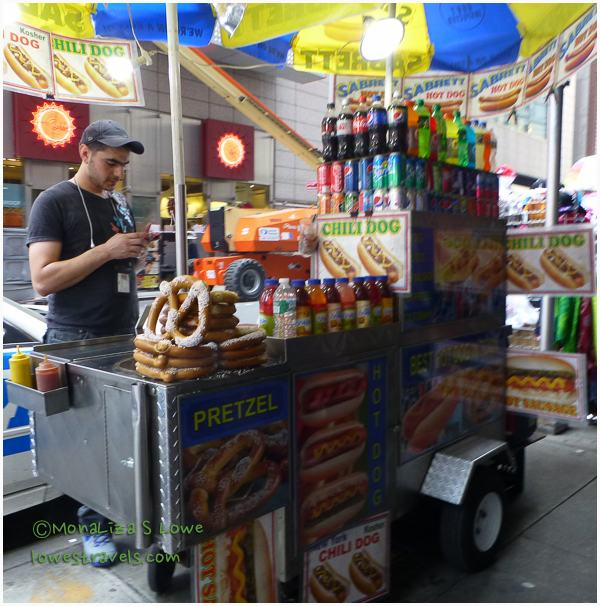 The incredible-smelling food stands