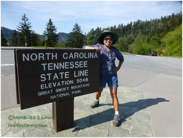 Newfound Gap, TN and NC Border