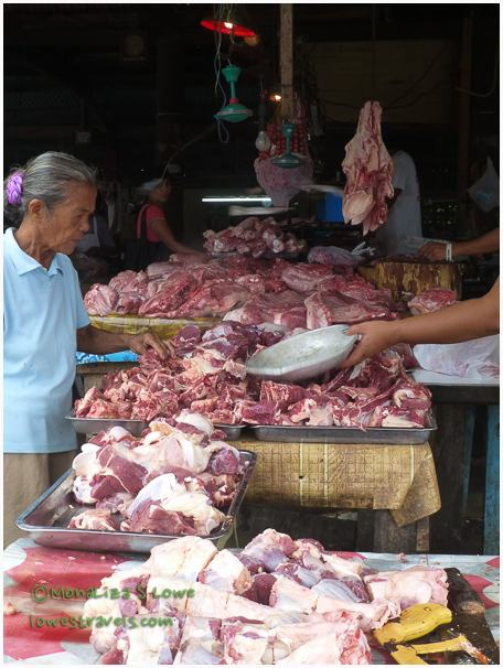Fresh meat at the market