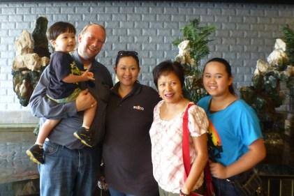 With Aaron, Kamla and Feona in Kentucky