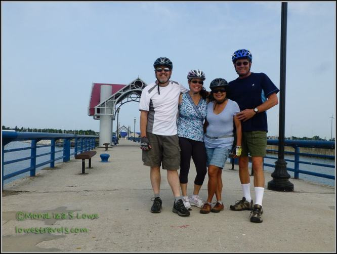 With our buds Don and Lisa in Mackinaw City, MI