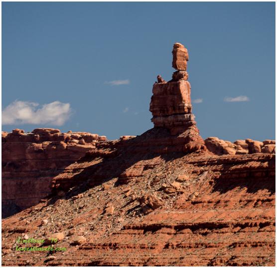 Facing north - A balanced rock!