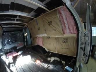 Van insulation installation