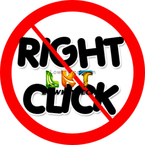 disable right click