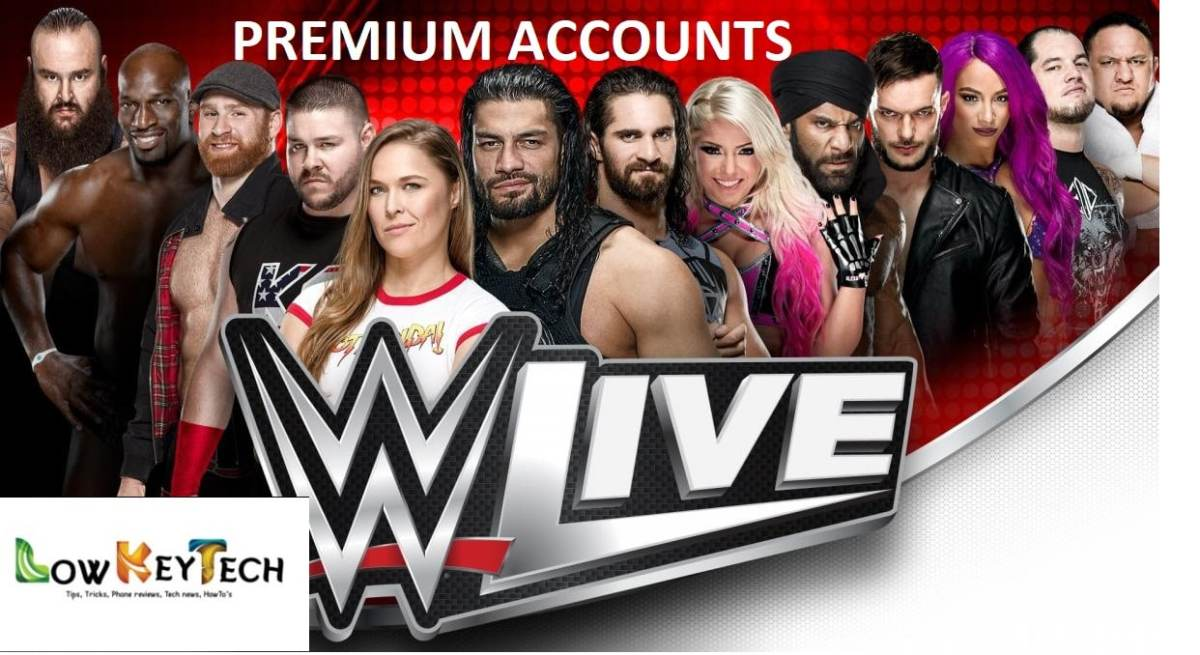 WWE Free Premium Account October 2019 - Full Access