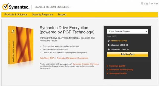 Symantec Drive Encryption
