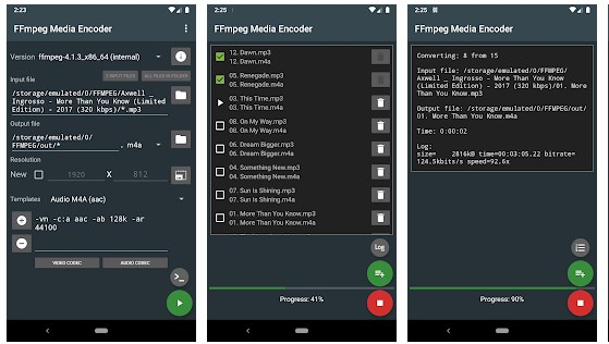 FFmpeg Media Encoder