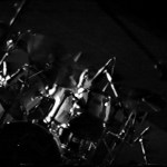 Mark sat behind a durm kit in the Horsham Sports Centre 1990 where he joined The Gits for their last gig
