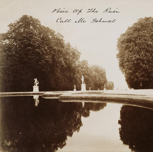 The front cover of Call Me Ishmael which is a photograph by Eugène Atget, Reflecting Pool Saint-Cloud, taken between 1915 and 1919 of a man made lake with statues on plinths creating a corridor towards it with lines of trees on each side.