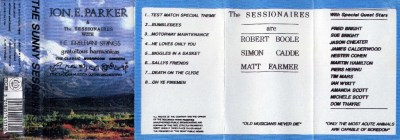 Inlay of the original 1990 cassette release of The Sunny Sessions
