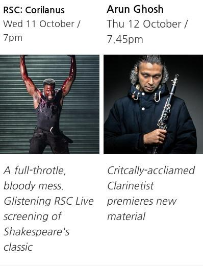 A newsletter from the Midland Arts Centre rife with errors - 'Critcally-acclaimed Claranetist', 'A full-throtle, bloddy mess'.