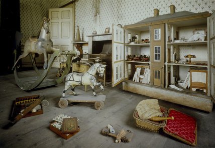 The Schoolroom At Calke Abbey With Many Toys Including A