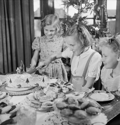 Jean Devereux Cuts The Cake In Her House In Pinner