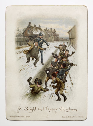 Victorian Christmas Card C1890 By S Hildesheimer And