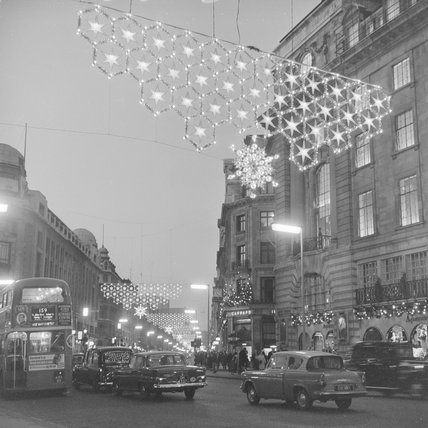 Regent Street Christmas Lights 1965 By Henry Grant At