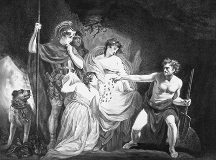 depiction of Act Four, Scene Three; engraving commissioned by J. Boydell for text publication (courtesy Museum of London)