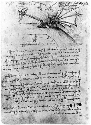 Designs For A Flying Machine Leonardo Da Vincis Notebook